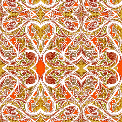 Heart of Gold fabric by edsel2084 on Spoonflower - custom fabric