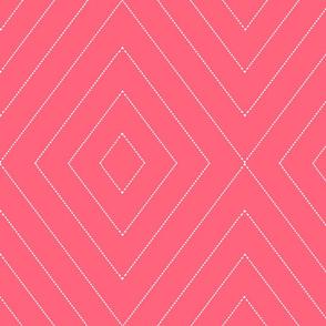 diamonds_dash_lines reverse coral