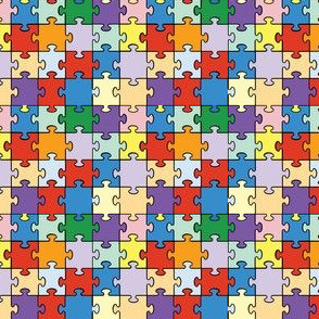 Brightly Colored Jigsaw