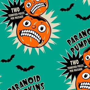 Paranoid Pumpkins on Teal