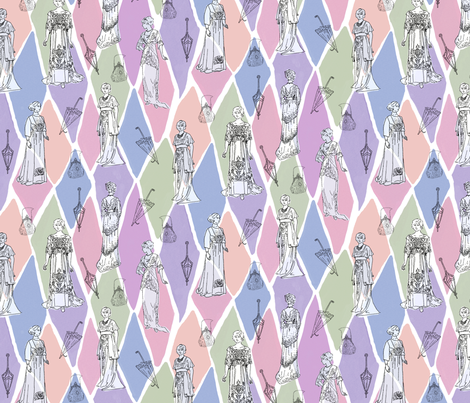 Edwardian Fashion Show fabric by vinpauld on Spoonflower - custom fabric