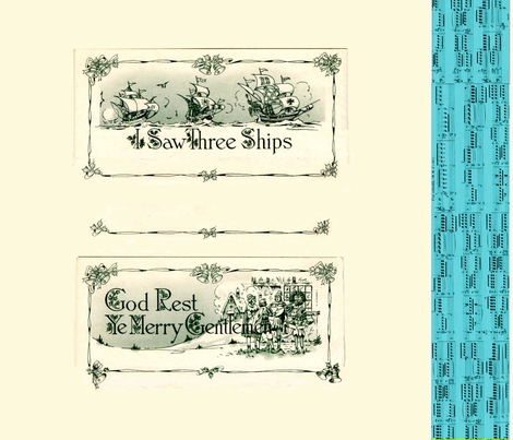 All 3 Ships - Songbook Pillows fabric by karaskye on Spoonflower - custom fabric