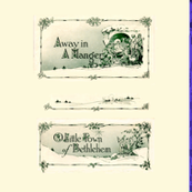 Away in a Manger - Songbook Pillow Panels