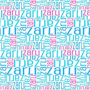Personalised Name Fabric - Pink, Aqua, Blue