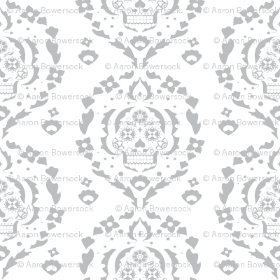 Damask de los Muertos (gray)