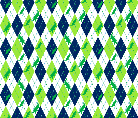Argyle Alli Blue-White fabric by olioh on Spoonflower - custom fabric