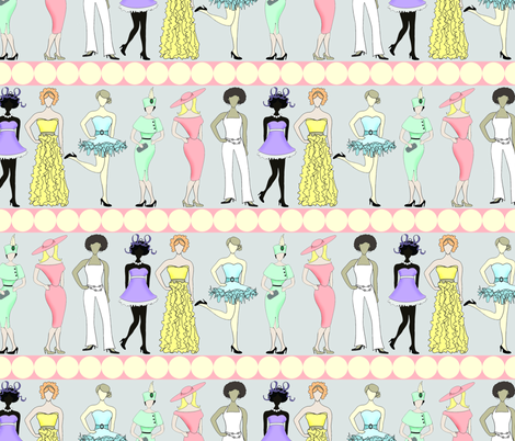 fashionistas fabric by accoladedesigns on Spoonflower - custom fabric