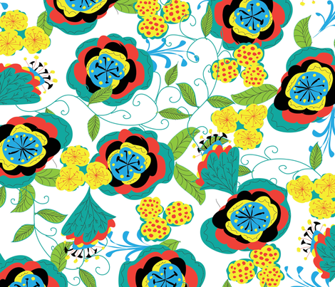Fashion_Floral fabric by evaspitzer on Spoonflower - custom fabric