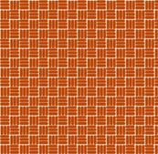 laundry basket weave in rust orange