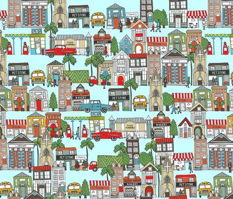 my kinda town fabric by scrummy on Spoonflower - custom fabric