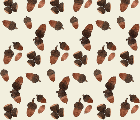 acorns natural fabric by gollybard on Spoonflower - custom fabric