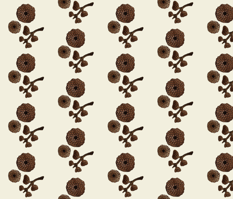 giant acorn caps natural fabric by gollybard on Spoonflower - custom fabric