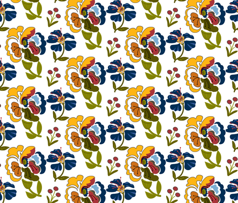 Bohemian_Rapsody_Half_Drop fabric by lana_gordon_rast_ on Spoonflower - custom fabric