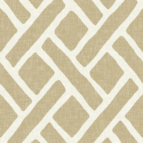 Savannah Trellis in Khaki Linen