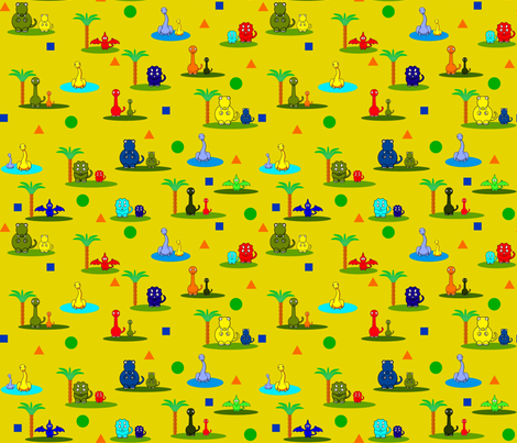 Dino Dayz2 fabric by firedryad1 on Spoonflower - custom fabric