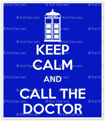 Keep Calm Call the Doctor - panel