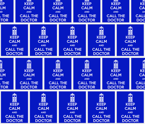 Keep Calm Call the Doctor - panel fabric by katvanwin on Spoonflower - custom fabric