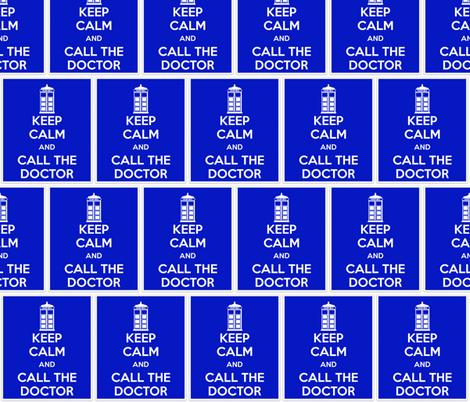 Keep Calm Call the Doctor - panel fabric by katvanwin on Spoonflower - custom fabric