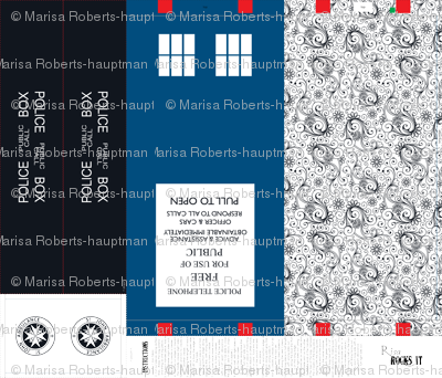 Tardis inspired tote bag