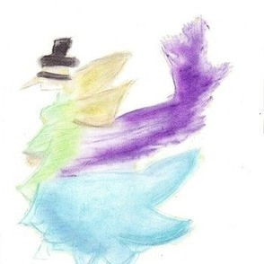 Colorful Angels in Top Hats