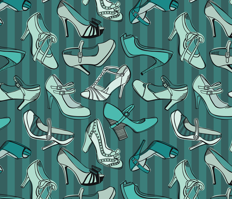 Retro_shoes fabric by nenilkime on Spoonflower - custom fabric