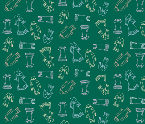 Fashion Dresses fabric by tasha_goddard_designs on Spoonflower - custom fabric