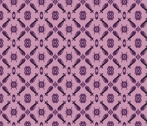 viv_tat plum on plum mirrior-ed fabric by cest_la_viv on Spoonflower - custom fabric