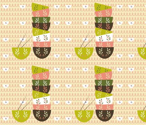 Dim Sum Bowls fabric by karenharveycox on Spoonflower - custom fabric