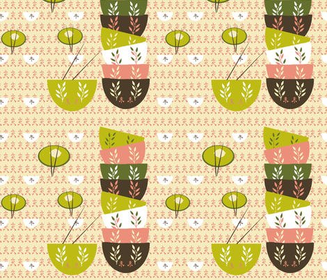 Dim Sum Love fabric by karenharveycox on Spoonflower - custom fabric