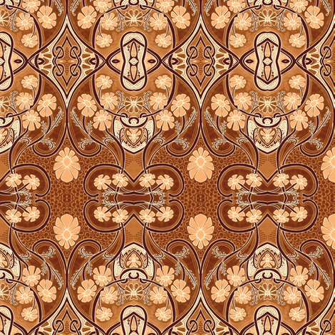 The Chocolate Garden fabric by edsel2084 on Spoonflower - custom fabric