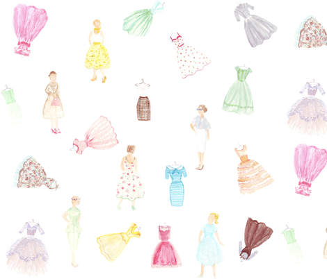 Fabulous '50s fabric by graceful on Spoonflower - custom fabric
