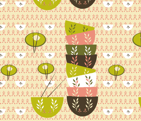 A Dim Sum Delight fabric by karenharveycox on Spoonflower - custom fabric
