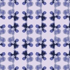 Blue Pansy watercolor