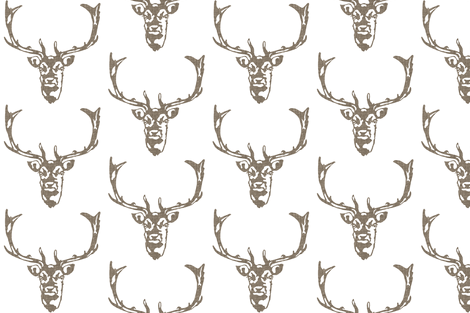 Wild Welsh Stag - Small fabric by kristopherk on Spoonflower - custom fabric