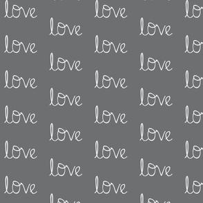 Love on storm cloud grey