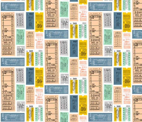 Ticket to Ride (Midi) fabric by pennycandy on Spoonflower - custom fabric