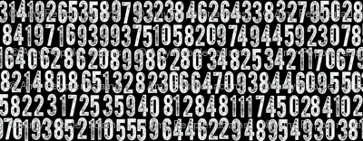 Random Number Generator (White on Black)