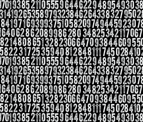 Random Number Generator (White on Black) fabric by pennycandy on Spoonflower - custom fabric