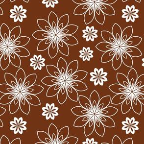 stylized white flowers