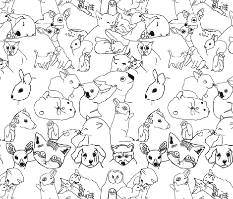 baby animals fabric by marinamolares on Spoonflower - custom fabric