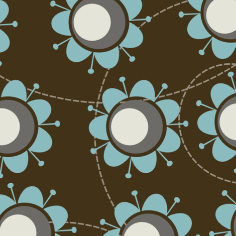 Big blue flowers fabric by suziedesign on Spoonflower - custom fabric
