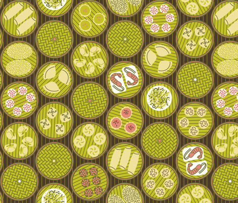 Dim Sum Dots fabric by saunterstyle on Spoonflower - custom fabric
