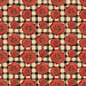 gingham roses