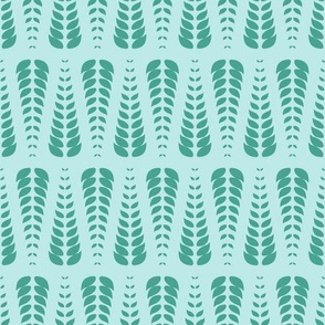 mint blue leaves