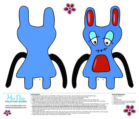 Space Rabbit fabric by missdaisydolls on Spoonflower - custom fabric