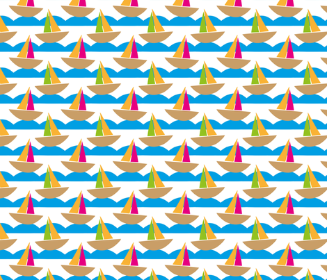 Beside The Seaside fabric by applekaurdesigns on Spoonflower - custom fabric