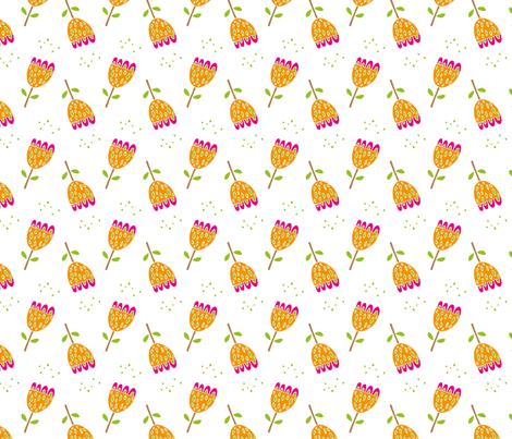 Champagne Flowers fabric by applekaurdesigns on Spoonflower - custom fabric