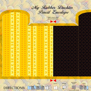 My Rubber Duckies Pencil Envelope