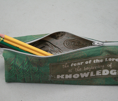 Cut and sew tree pencil case