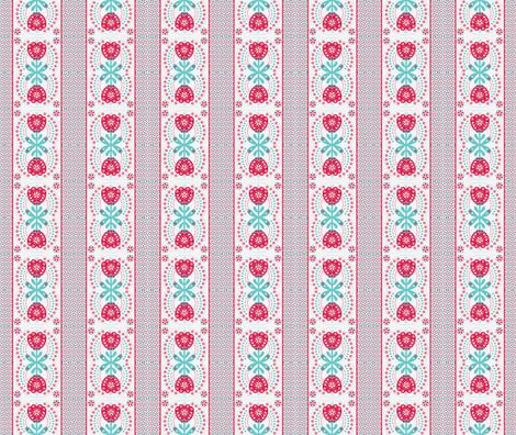 Lily Folk fabric by abloom on Spoonflower - custom fabric